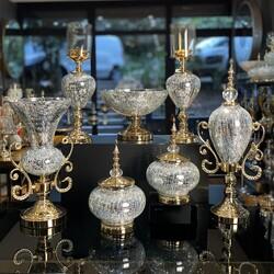 Dekor Arya - 7 Parça Lux Salon Takımı Gold Gümüş