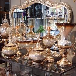 Dekor Arya - 7 Parça Lux Salon Takımı Gold Kahve