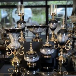Dekor Arya - 7 Parça Lux Salon Takımı Siyah Gold