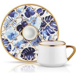 Koleksiyon - Altılı Sufi Türk Kahvesi Takımı Amazon Mavi