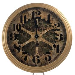Dekor Arya - Altın Çarklı Duvar Saati