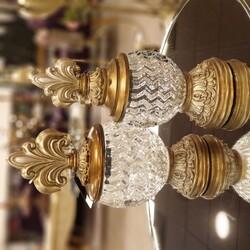 Porio - Altın Çizgili Camlı Dekoratif Kavanoz