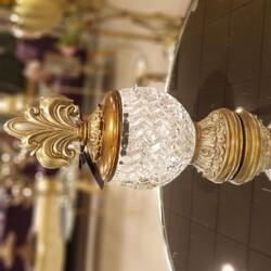 Porio - Altın Çizgili Camlı Dekoratif Kavanoz 12*12*27