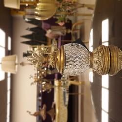 Altın Çizgili Camlı Dekoratif Kavanoz 9*9*24 Cm - Thumbnail