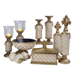 Dekor Arya - Altın-Krem 11 Parça Salon Takımı