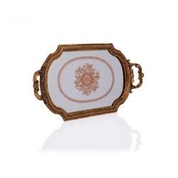 Porio - Altın Kulplu Küçük Aynalı Tepsi