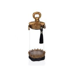 Porio - Altın Siyah Cam Dekoratif Kavanoz