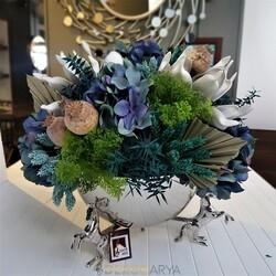 Dekor Arya - At Detaylı Saksıda Çiçek Aranjmanı 25 Cm