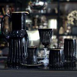 Dekor Arya - Bohemia 31 Parça Sofra Seti Dik Dekor-Siyah