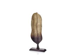 Lamedore - Bronz Altın Ikı Renk Gecıslı Boyuna Uzun Kucuk Boy Yaprak Dekoratıf 55Cm
