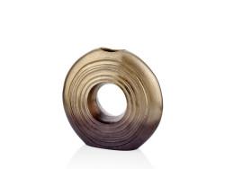 Lamedore - Bronz-Altın İki Renk Geçişli Küçük Yuvarlak Vazo