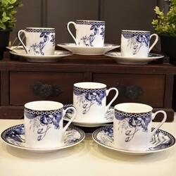 Dekor Arya - Charlotte Bone Serisi 6lı Kahve Fincan Takımı