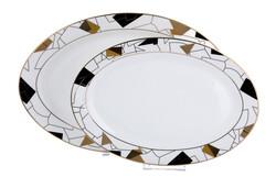 Dekor Arya - Claudette Bone Serisi 2Li Oval Servis