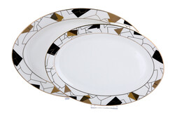 Lucky Art - Claudette Bone Serisi 2Li Oval Servis