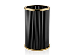 Lamedore - Çubuklu Altın Siyah Saksı