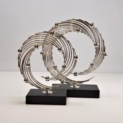 Deco Vien - Dekoratif Metal Kaide 2 li Gümüş