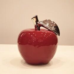 Esmer Hediyelik - Dekoratif Porselen Elma 11*13 Cm