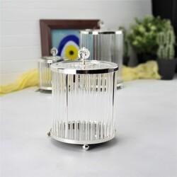 Esmer Hediyelik - Dekoratif Silindir Kutu - Silver
