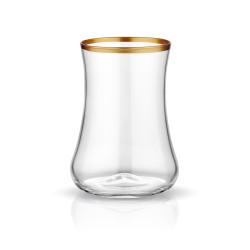 Koleksiyon - Dervish Çay Bardağı Altılı Mat Altın Şeffaf