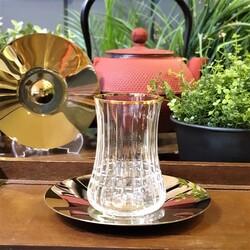 Koleksiyon - Dervish Çay Diamond Altın Altılı Çay Takımı