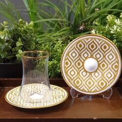 Koleksiyon - Dervish İkat Altın Altılı Çay Takımı