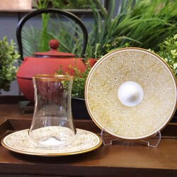 Koleksiyon - Dervish Osmanlı Altın Altılı Çay Takımı