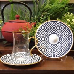 Koleksiyon - Dervish Kulplu Çay Set 6'lı İkat Antrasit