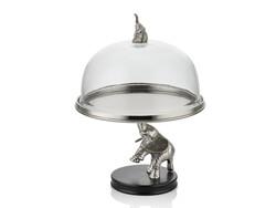 Lamedore - Elefante Fil Üzerine Sunumluk Silver 26.6X26.6X35.5 Cm
