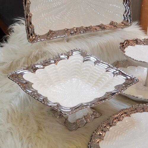 Elegant 5 Parça Silver Sunumluk Set