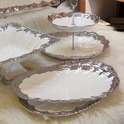 Elegant 5 Parça Silver Sunumluk Set - Thumbnail
