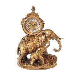 Porio - Fil Figürlü Masa Saati 31*23 cm