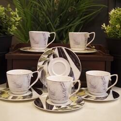 Lucky Art - Flora Altılı Kahve Fincan Takımı
