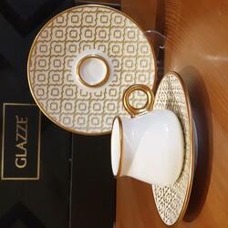 GLAZZE - Glazze Olympos Altın 12 Parça Butik Kahve Takımı