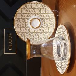 GLAZZE - Olmypos Altın A La 12 Parça Çay Seti