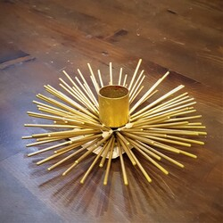 Dekor Arya - Gold Çubuklu Kirpi Mumluk