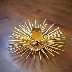 Lucky Art - Gold Çubuklu Kirpi Mumluk