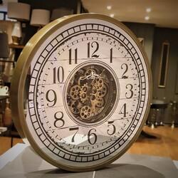 80 cm Mekanizmalı Duvar Saati Gold - Thumbnail