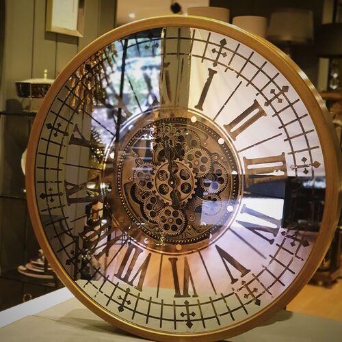 Gold Rengi Roma Rakamlı 80 cm Mekanizmalı Duvar Saati