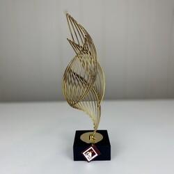 - Gold Standlı Dekoratif Obje Asimetrik Küçük