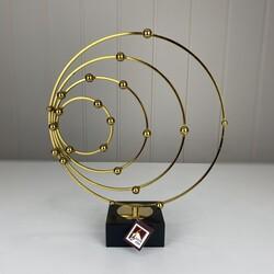 Dekor Arya - Gold Standlı Yuvarlak Dekor Büyük