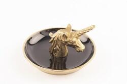 Mikasa Moor - Gold Unicorn Dekoratif Tabak 12x7cm