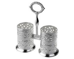 Queen Anne - Gümüş 2 Bölmeli Kaşıklık