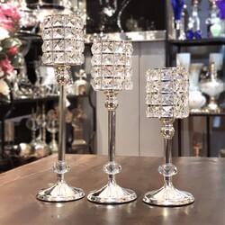Deco Vien - Gümüş Ayaklı Kristal Mumluk