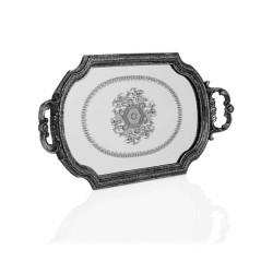 Porio - Gümüş Kulplu Büyük Aynalı Tepsi