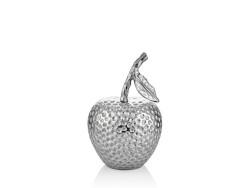 Lamedore - Gümüş Rengi Elma Şeklinde Büyük Boy Dekoratif Obje