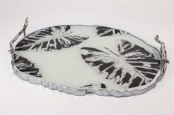Mikasa Moor - Gümüş Siyah Oval Tepsi