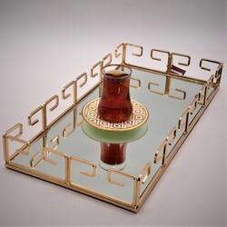 Dekor Arya - Hook Servis Tepsi Gold 44x22 Cm