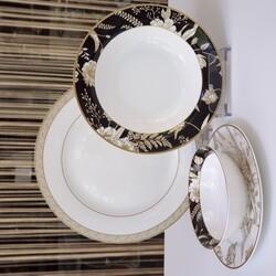 Dekor Arya - Ingrıd 24 Parça Bone Serisi Yemek Takımı
