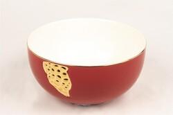 Mikasa Moor - Kırmızı Gold Porselen Kase