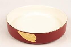 Mikasa Moor - Kırmızı Gold Yuvarlak Porselen Servis